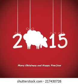 Happy New Year card. Vector illustration