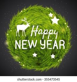 Happy new year card. Vector illustration