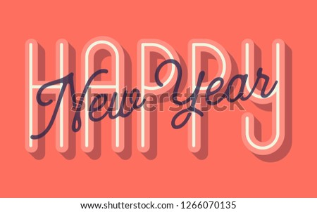 Happy New Year Card Vector Illustration