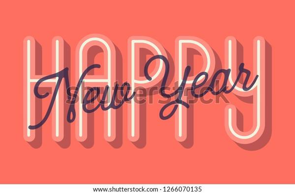 Happy New Year Card Vector Illustration