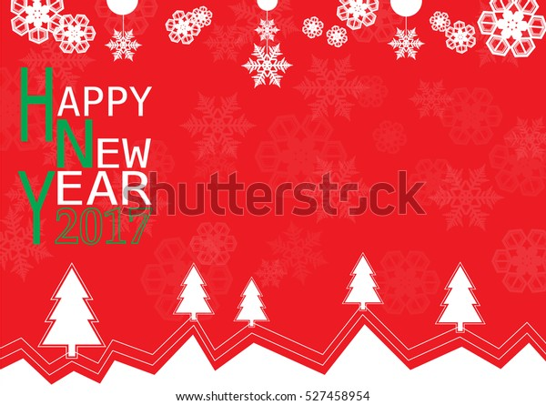 Happy New Year Card Wallpaper Background Stock Vector (Royalty