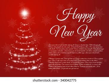 Happy New Year celebration background. Vector illustration.