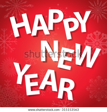 happy new year celebration greeting card design
