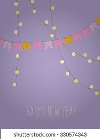Happy New Year. Celebration Party Card Minimal retro design New Years Eve Party poster / card