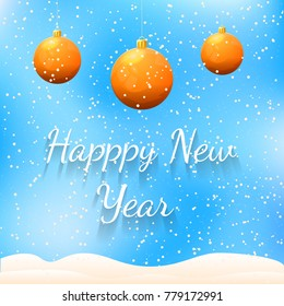 Happy New Year. Colorful Greeting Card. Festive Background, Banner, Flyer Vector Illustration