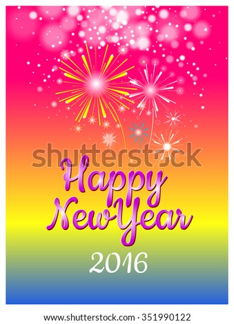 happy new year concept for sweet greeting card and banner create by vector file