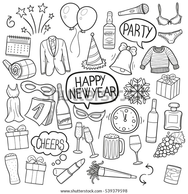 Happy New Year Doodle 64