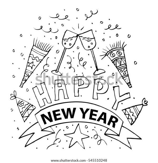 Happy New Year Doodle 8