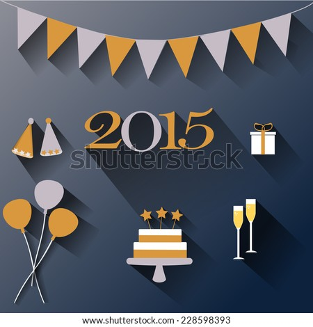 Happy New Year Flat Design 76