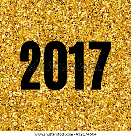 happy new year gold glitter background for flyer poster sign symbol banner
