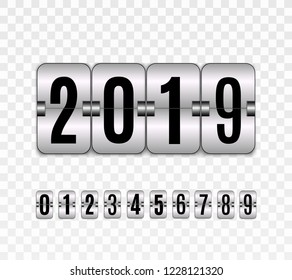 Happy new year.  Graphic design editable for your design.  Hour counter.  Vector template.