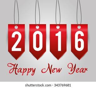 Happy new year graphic design, vector illustration eps10