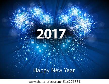 happy new year greeting card easy all editable