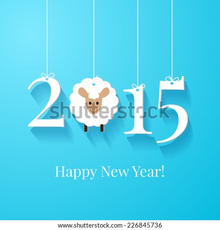 Happy new year greetings card background stock vector royalty free happy new year greetings card or background white tags with 2015 on blue background m4hsunfo