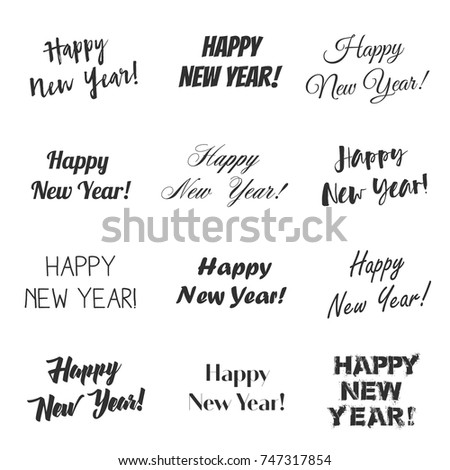 Happy New Year Greetings Vector Overlay Stock Vector (Royalty Free ...