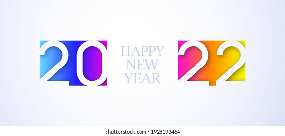 Happy new year. Holiday background. 2022. Happy new year. 2022 new year. Happy new year design. Colorful holiday background for calendar or web banner. 2022 celebration. Light 2022