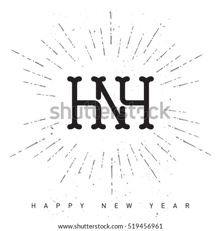 Happy New Year Holiday Composition Burst Stock Vector Royalty Free