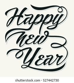 Happy New  Year. Holiday Vector Illustration