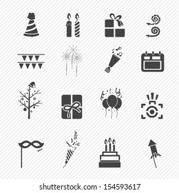 Happy New Year icons isolated on white background