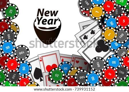 Happy New Year Inscription Santa Claus Stock Vector (Royalty Free ...