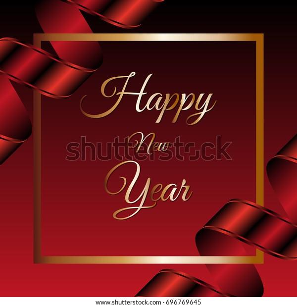 Happy New Year Invitation Card 18