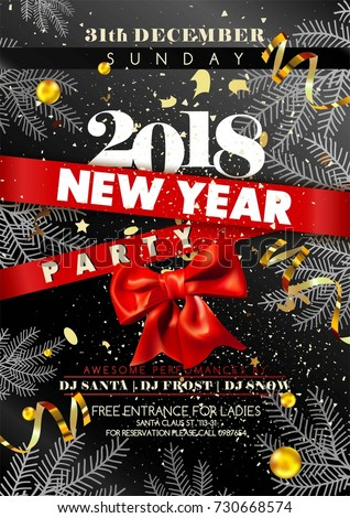 happy new year invitation template or poster