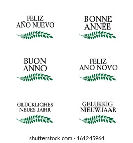 Happy New Year Laurels in Different Languages 1