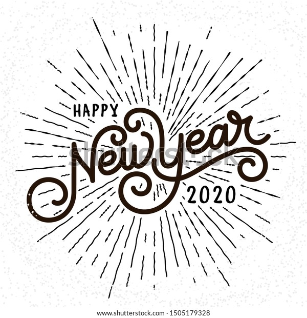 Happy New Year Lettering 44