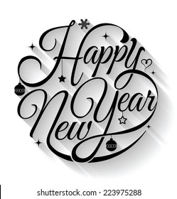 Happy New Year Lettering Design 39