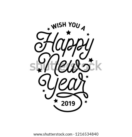 happy new year lettering template monochrome stock vector royalty PR Cover Letter Template happy new year lettering template monochrome greeting card or invitation wish you a happy