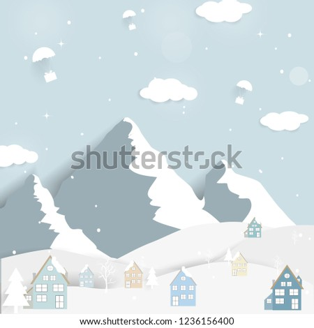 9fd5ebce74f6 Happy New year and Merry Christmas winter landscape background . Vector  illustration.