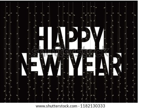 happy new year monochrome letters banner stock vector royalty free