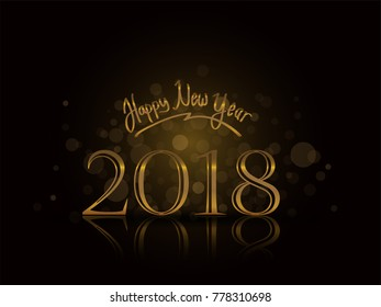 happy new year old text with dark background