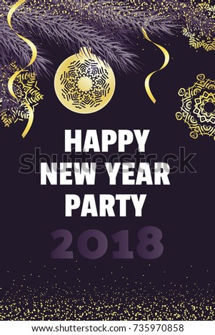 happy new year party invitation template