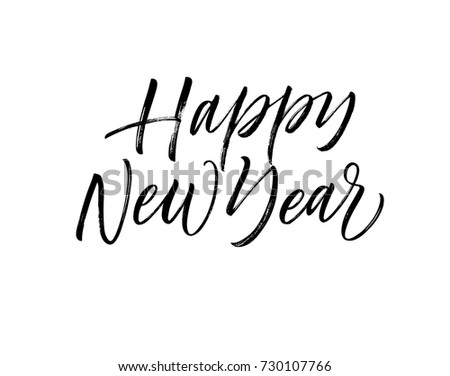 Happy New Year Phrase Greeting Card Stock Vector (Royalty Free ...