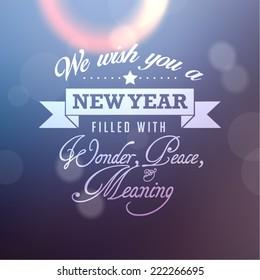 Happy New Year Quote Vector Design