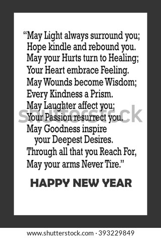 Happy New Year Quote Whiteboard Style Stock Vector (Royalty Free ...