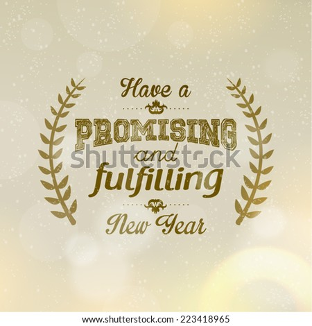 Happy New Year Season Greetings Quote Stock Vector (Royalty Free ...
