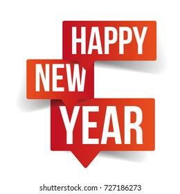 Happy New Year speech bubbles