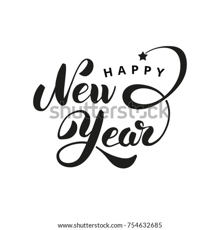 happy new year star logo vector logotype invitation greeting card decor celebration