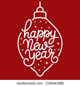 Seasons greetings text images stock photos vectors shutterstock happy new year text hand drawn lettering holiday greetings quote monochrome typography for m4hsunfo