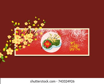 Happy new year. Vietnamese new year. Translation Tet  Lunar new year