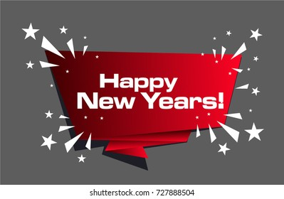 Happy New Years, Beautiful greeting card poster