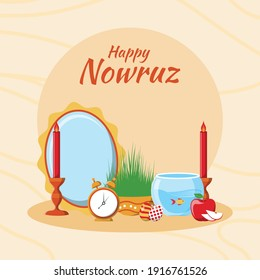 Happy nowruz day vector illustration