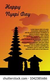 Happy Nyepi Day Vector Illustration