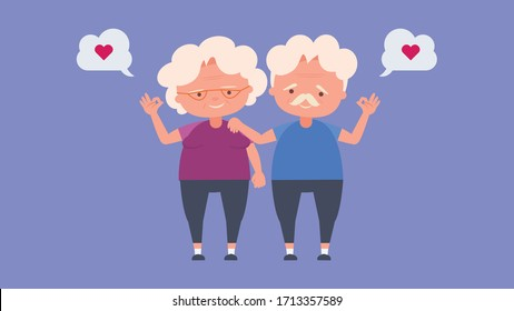 Happy old people,Elderly lovers, good mood and physical health,Elderly lovers,Spend time together happily good mood and physical health