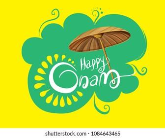 happy onam festival kerala illustration
