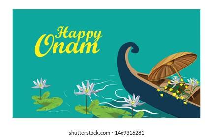 happy onam festival kerala vector illustration