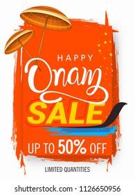Happy Onam sale background South India harvest festival background for Happy Onam festival of South India Kerala