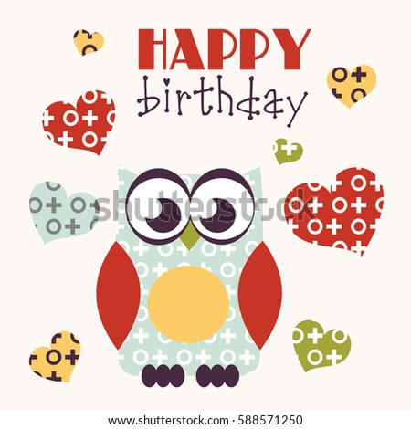 Owl Happy Birthday Card Design Pictures Picturesboss